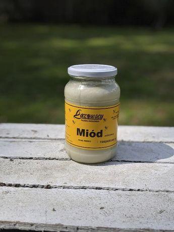 Sprzedam miód pszczeli rzepakowy 0.9L 1.20kg Pasieka Łazowscy