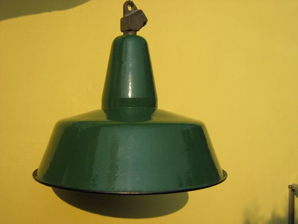 Lampy przemysłowe emaliowane OBs-3 . Loft. Industrial PRL