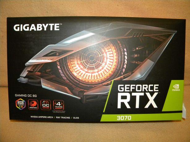 GIGABYTE GeForce RTX 3070 gaming OC LHR 8 GB GDDR6 nowa na gwarancji