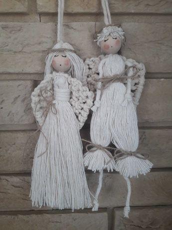 Aniołki para makrama