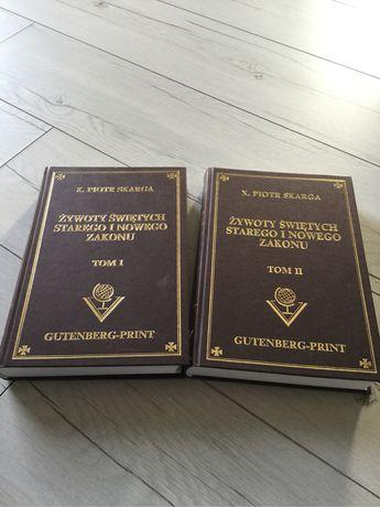 """P. Skarga """"żywoty świętych Starego i Nowego Zakonu"""", 2 cz, Gutenberg"""
