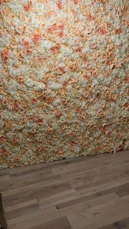 Ściana z kwiatów/ścianka kwiatowa