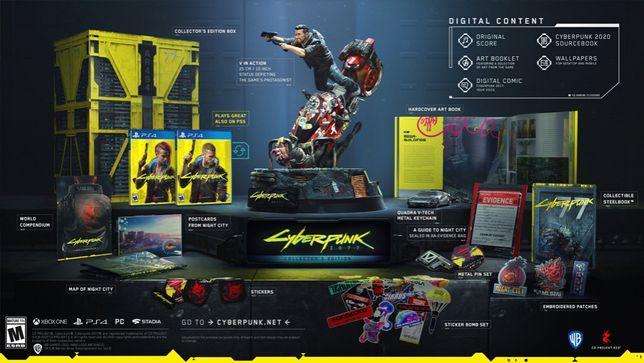 Cyberpunk 2077 PS4 Edycja Kolekcjonerska NIEROZPAKOWANA