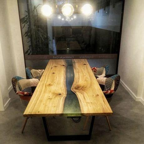 Mesa de Jantar sala em madeira vintage / retro Estilo industrial