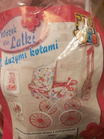 Wózek dla lalek z dużymi kołami