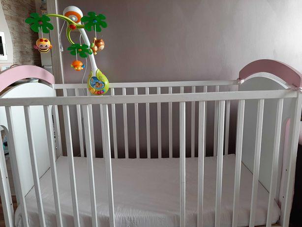 Łóżeczko dziecięce z materaxem, kolderka i pościelą