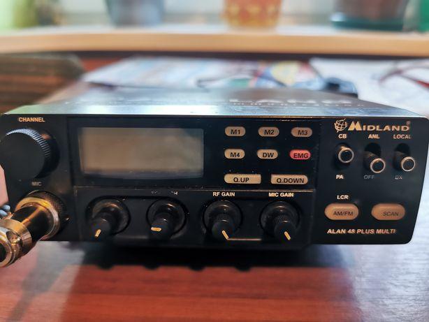 CB Radio Midland Alan 48 Plus Multi + antena