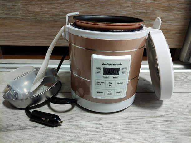 Мультиварка автомобильная рисоварка 1.6л на 12 24 Вольт пароварка