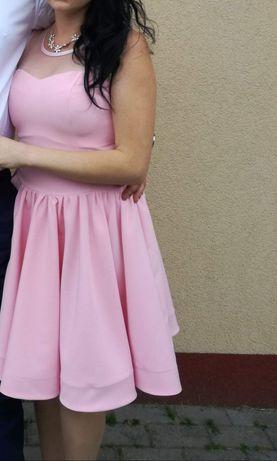 Sukienka cukierkowy róż 38