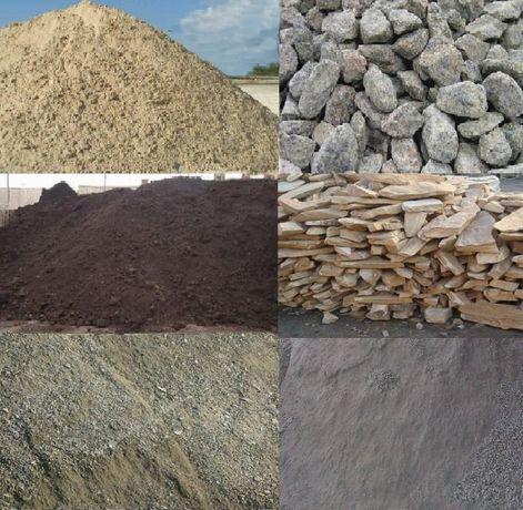 Достака щебеня песка шлака глины перегноя от 2 тонн Камаз