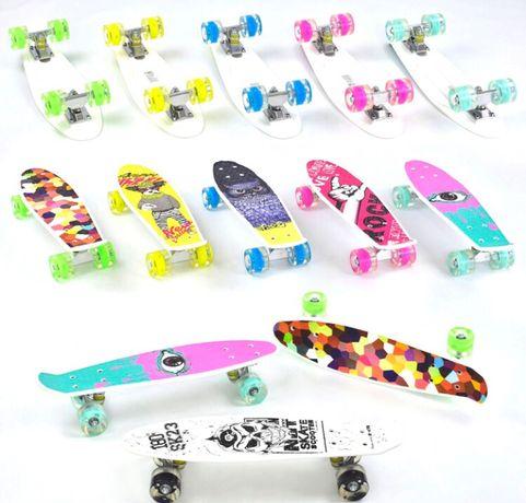 Пенни-борд,детский скейт-С LED подсветкой колес! PennyBoard-ХИТ СЕЗОНА