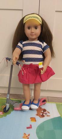 Our Generation nowy zestaw z hulajnogą + lalka