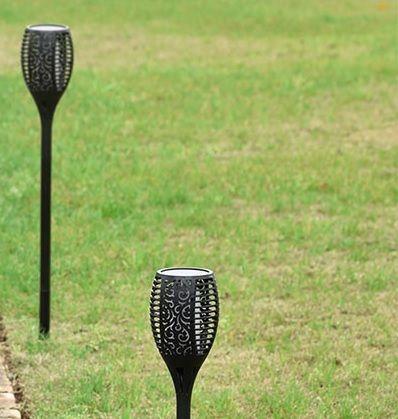 Ogrodowa lampa LED , efekt płomienia, cena za dwie sztuki !!