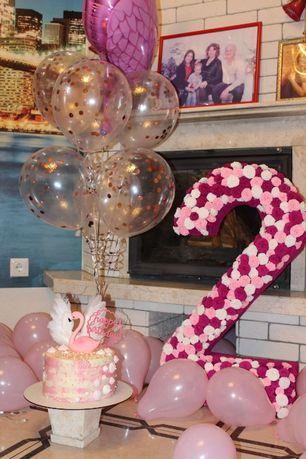 Цифра двойка на день рождения