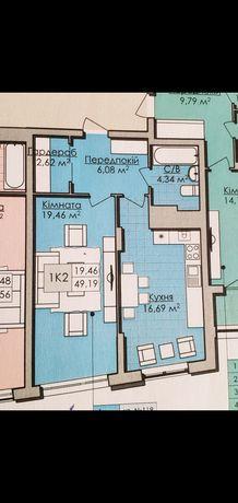 Малоголосківська квартира 1к. 49.2 кв.м.