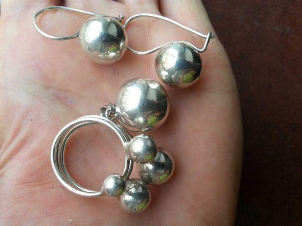 Komplet kulek  oraz onne srebro
