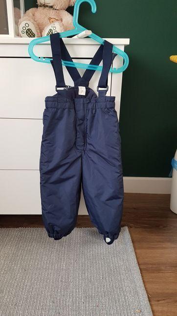 Spodnie na szelkach na sanki na zimę 86 h&m