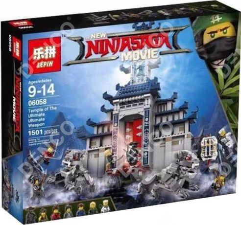 Конструктор Lepin Ninjago 06058 Храм оружия 1501 дет lego 70617