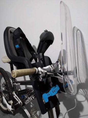 Cadeira bicicleta criança - Thule RideAlong Mini + pára-brisas + apoio