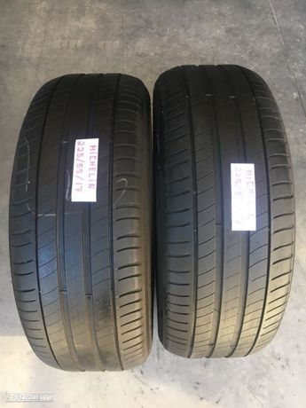 2 pneus semi novos Michelin 225/55/17 - Entrega grátis