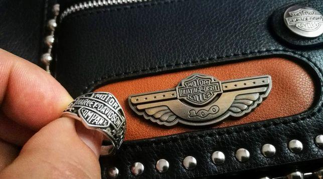 Sygnet pierścień motocyklowy Harley D srebro 925 chopper i inne zobacz