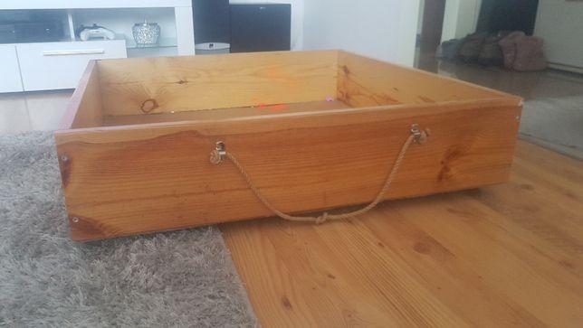 Okazja !!Dwa pojemniki pod łóżko drewniane