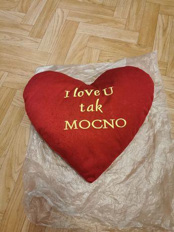 Poduszka serce i love You prezent na dzień kobiet