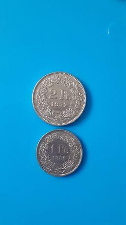 Монета 1Fr.1986р.   2Fr.1997р.