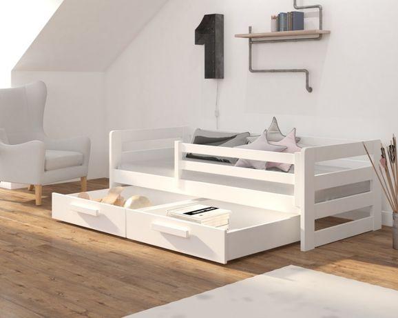 Łóżko pojedyncze - białe - pastelowe - 7 dni wysyłka!