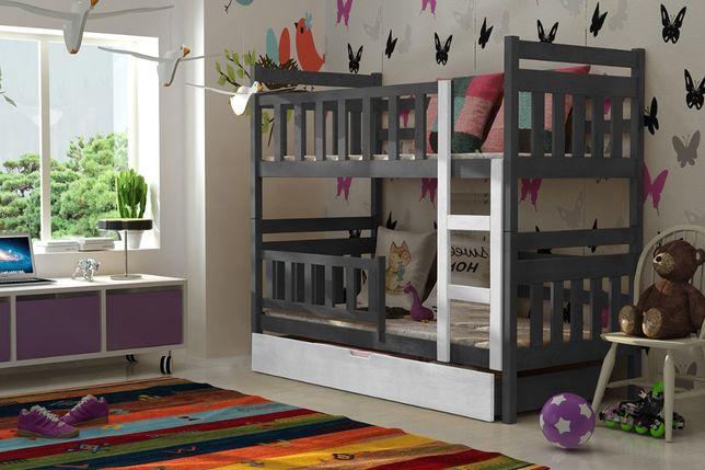 Nowe dziecięce piętrowe łóżko dla dwójki model Staś! Tania dostawa