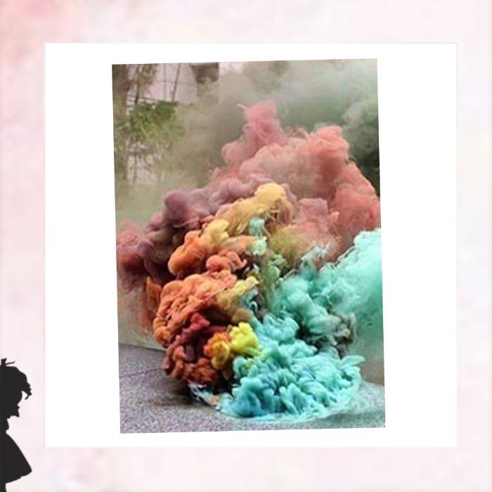 Kolorowy dym, dekoracja, do sesji zdjęciowej, wrażenie, ślub, święto