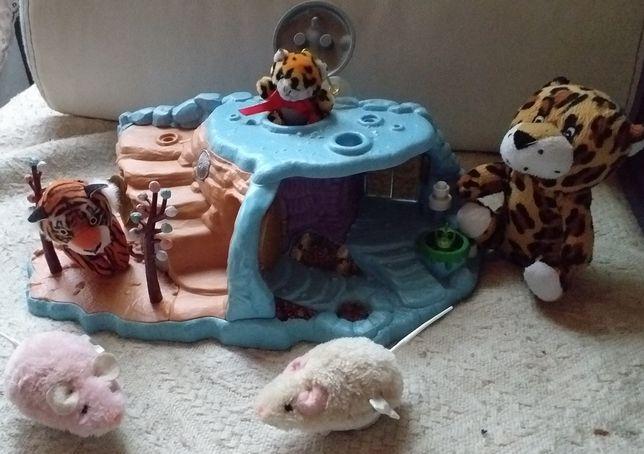 Zoo duzy wybieg dla tygrysow grota