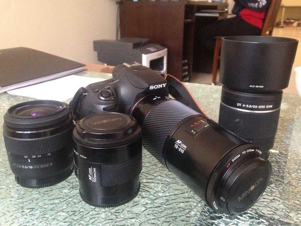 Sony a58 i mocny zestaw obiektywów