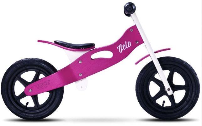 Rowerek biegowy Toyz Velo Różowy NOWY Drewniany