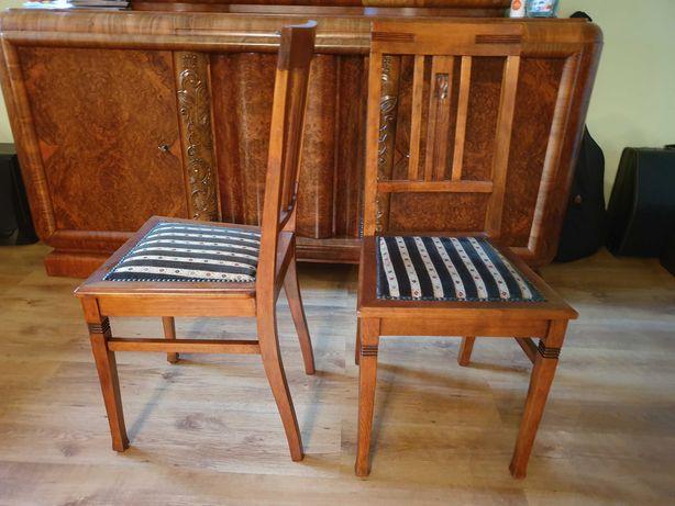 Odnowione dwa krzesła z lat 30stych