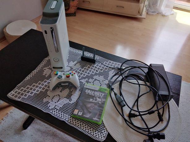 Xbox 360 60 GB +(adapter Wi-Fi, 1 gra, całe okablowanie)
