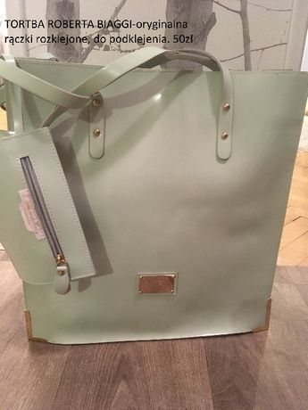 Oryginalna torba Roberta Biagi- rączki do podklejenia