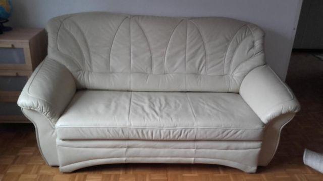 kanapa sofa + 2 fotele skóra naturalna (komplet)