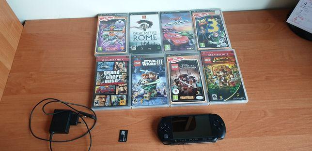 PSP STREET używane + 8 gier