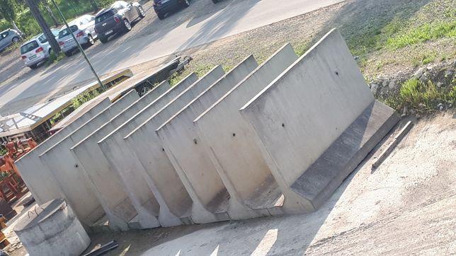 Mury oporowe  stożki przedzialki betonowe ogrodzenia  opory skarpy