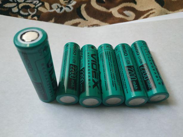 Videx li-ion 18650 2200mAh.Цена за шт.Высокотоковые батарейки.