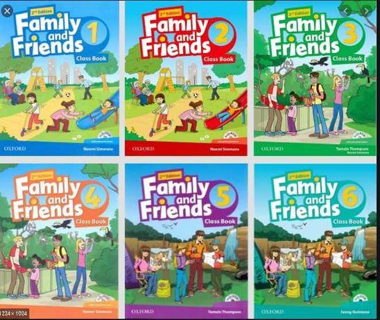 Учебники Family and Friends 1-6 уровень Class book Work book