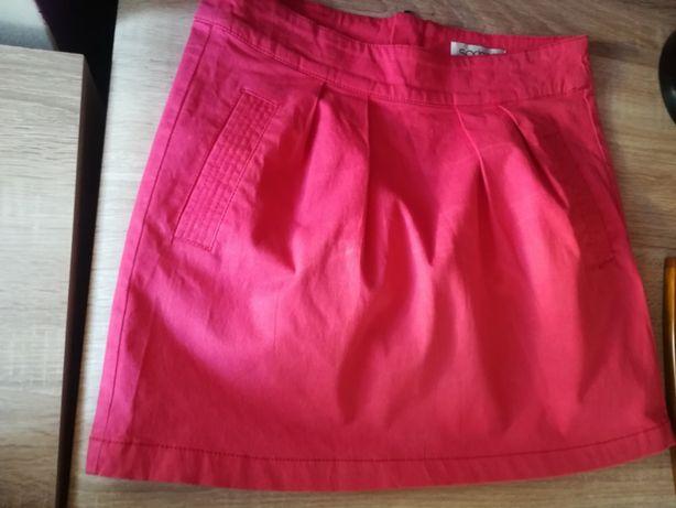 spódniczka jeansowa malinowa S