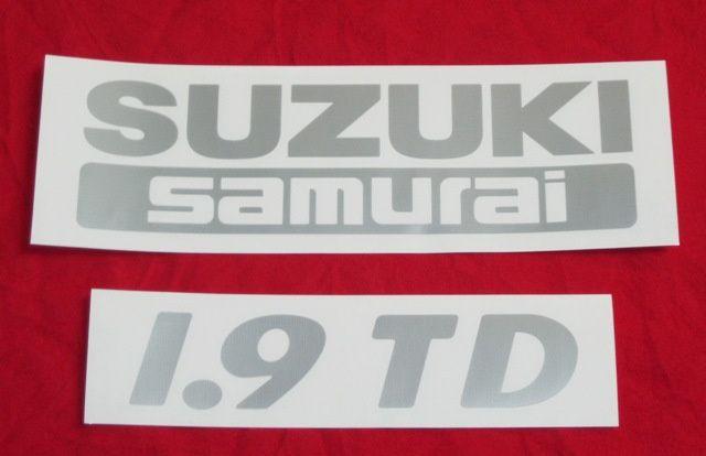Autocolantes SUZUKI Vitara JLX 1.9 TD e Samurai 1.9 TD