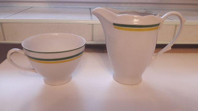 filiżanka i mlecznik- porcelana Ćmielów