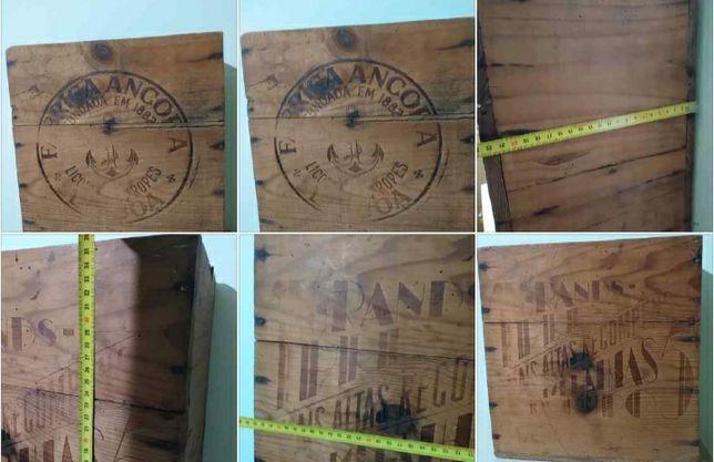 2 caixas raras e antigas em madeira : manteiga e licores