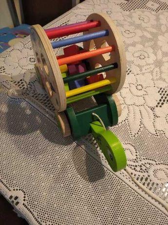 Zabawka drewniana żółw