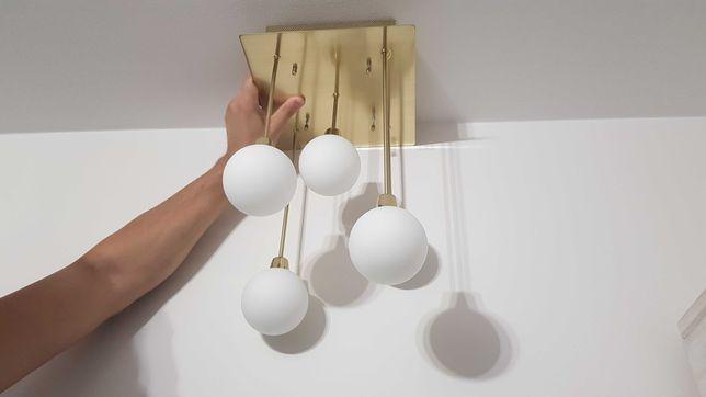 Okazja! Śliczna złota modna lampa kule Honsel