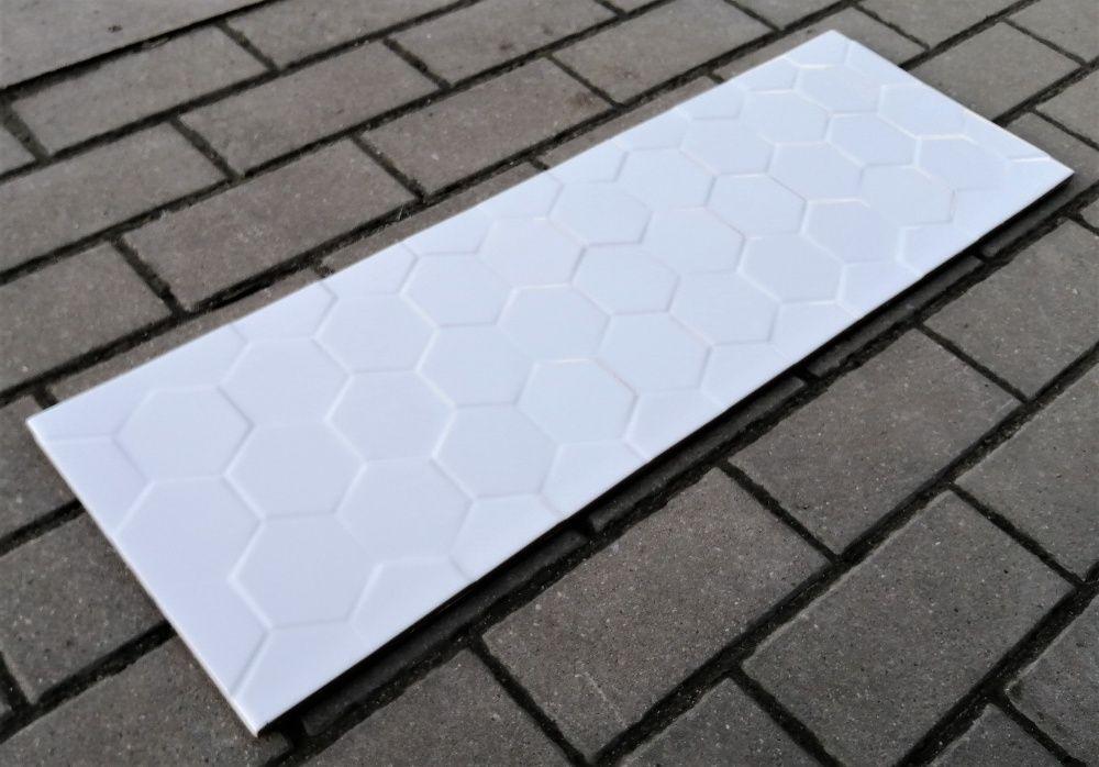 Płytka ścienna Charizma Hexagon White 25x75 GAT. 2 Stalowa Wola - image 1
