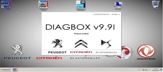 Diagbox 9.91 PL Lexia Citroen Peugeot PP2000 Opel VMware